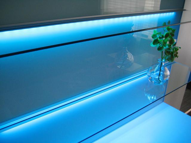 FRAMSTA glass panels & shelves, with LED lighting | Flickr ...