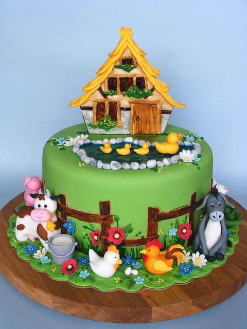 Old Macdonald Farm Birthday Cake