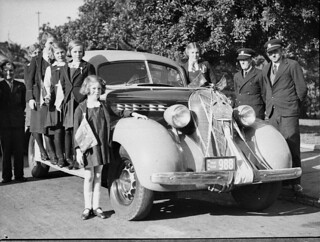 Orphanage outing to Gracie Fields' picture (The Show Goes On), taken for British Empire Films by Sam Hood, 10 May 1937