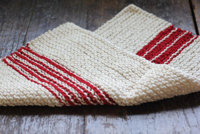 Knitted Dish Towels Free Patterns