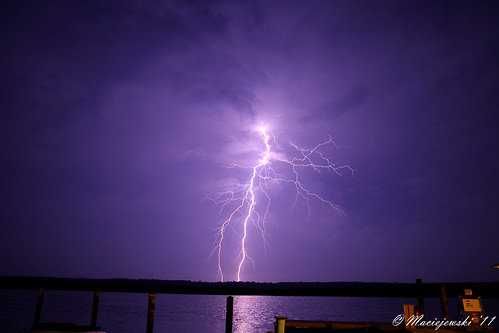 Lightning over Shady River Marina by Steve Maciejewski