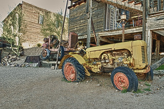 Yellow Tractor, Goldfield, AZ, USA