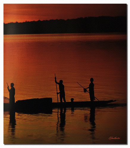 sunset silhouette backlight reflections tramonto nigeria riflessi pirogue controluce ghostbuster nigerriver piroga fiumeniger gigi49
