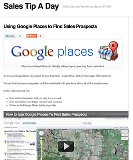 Using Google Places to Find Sales Prospects