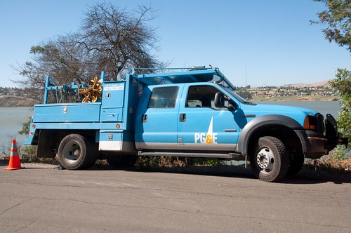 PGE Truck Parked