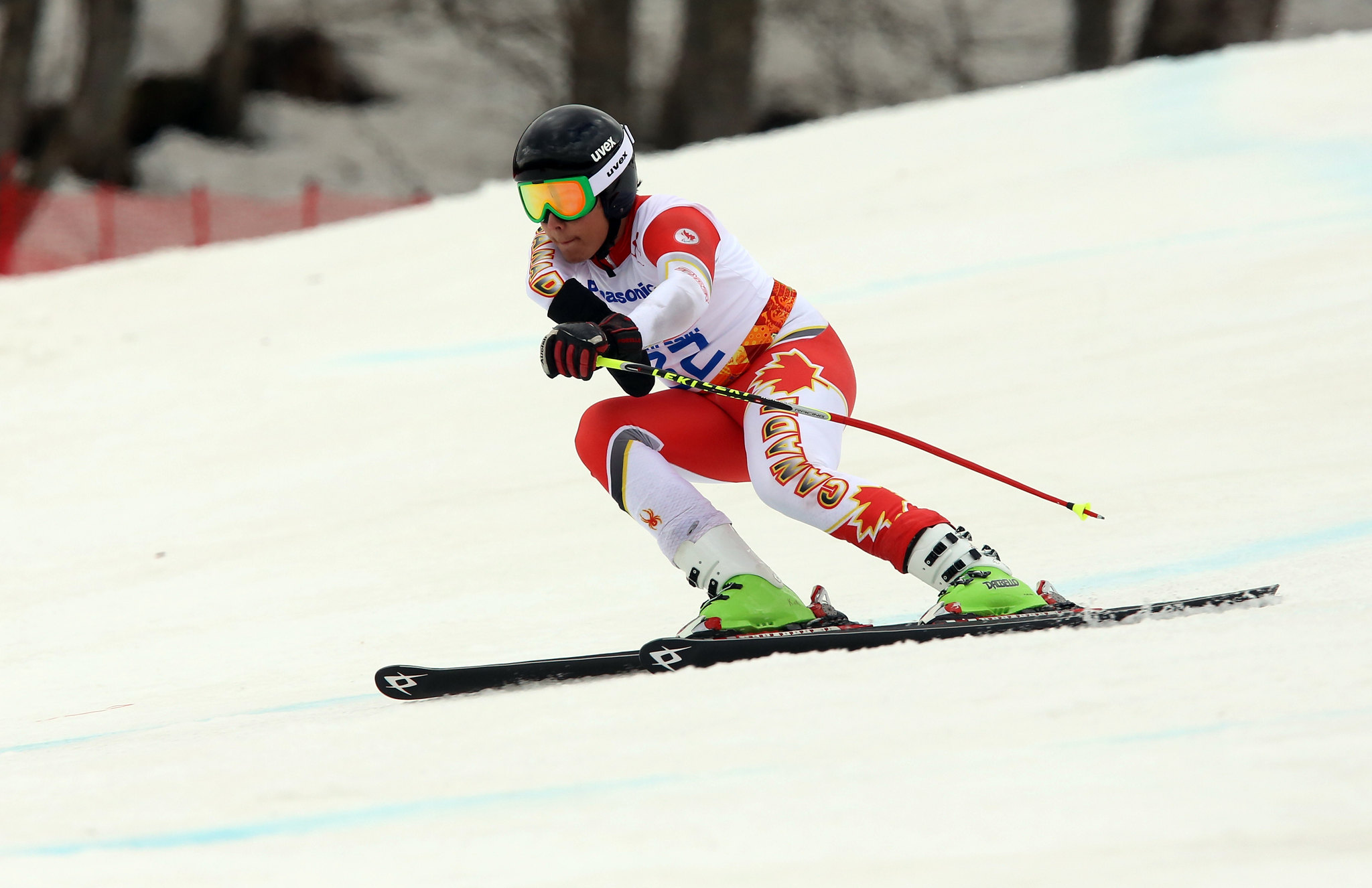 Kirk Schornstein competes in the Super-G at the 2014 Paralympic Winter Games in Sochi, RUS