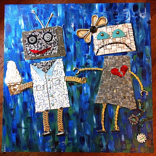 Someday I'll finish the #robot #mosaic.