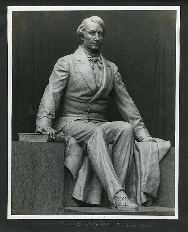 Judge R.E.B. Baylor Statue, Baylor University, Pompeo Coppini clay model