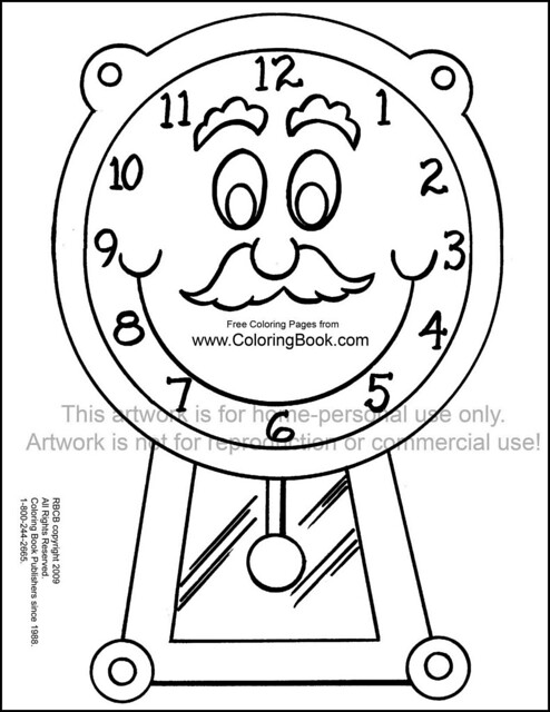 grandfather clocks colouring pages