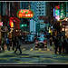 Hong Kong Street By Night by simondeanphotography