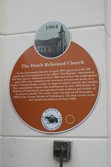 Photo of Dutch Reformed Church, Knysna and Paulus J. C. Hofman brown plaque