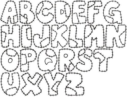 Moldes de letras para murales - Imagui