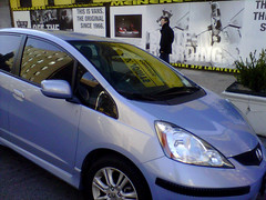 automobile, automotive exterior, vehicle, honda, compact car, bumper, honda fit, land vehicle,