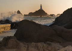 La Corbiere  Lighthouse  sunset Jersey