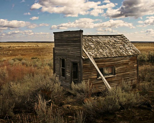 abandoned clouds spring cabin desert idaho sagebrush carey edminsterphotography