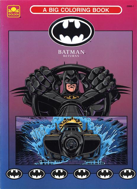 1992 Batman Returns Coloring Book