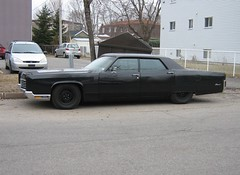 Gangster-styled car - Murdered out 1970 Lincoln Continental