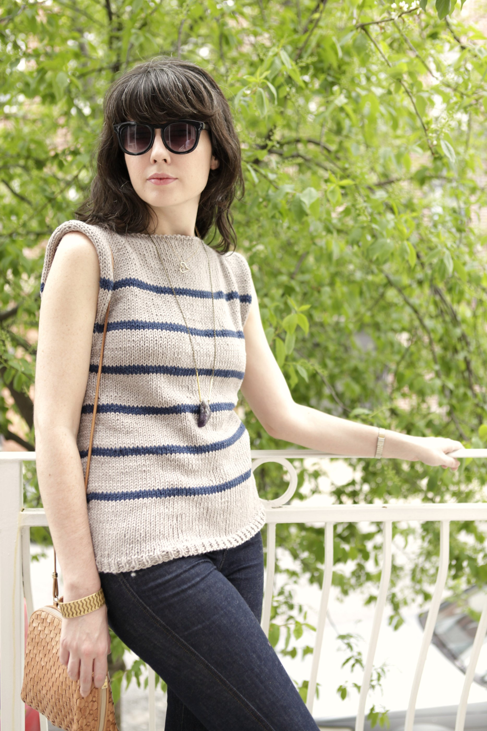 Knitting Pattern Striped Sweater : A Common Thread   Free Sweater Pattern: No Sew Striped ...