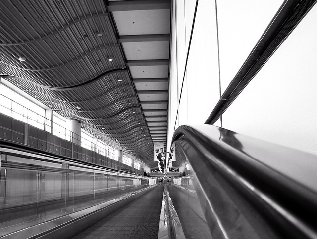 Long Way from the Gate to the Baggage Claim - Hamburg Airport, Germany