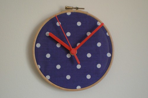 Polka Dot Fabric Clock Tutorial