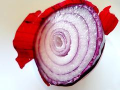 cake(0.0), flower(0.0), plant(0.0), cupcake(0.0), produce(0.0), icing(0.0), dessert(0.0), pink(0.0), petal(0.0), vegetable(1.0), red onion(1.0), buttercream(1.0), purple(1.0), violet(1.0), food(1.0),
