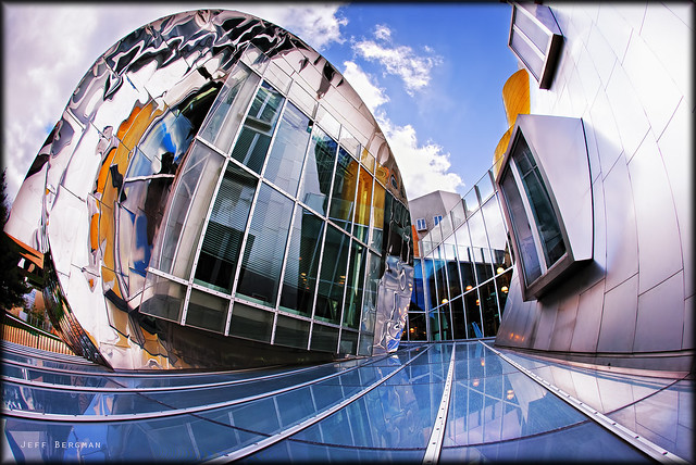 Stata Center meets a fisheye lens