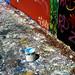 Small photo of Blue Paint Bucket Graffiti 34th Street Wall Gainesville