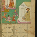 Illuminated Manuscript, Collection of poems (masnavi), Misbehaving students and their supposedly sick teacher, Walters Art Museum Ms. W.626, fol. 121b