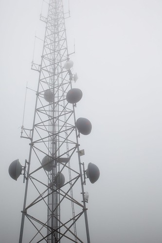 cloud mist monochrome fog day antenna