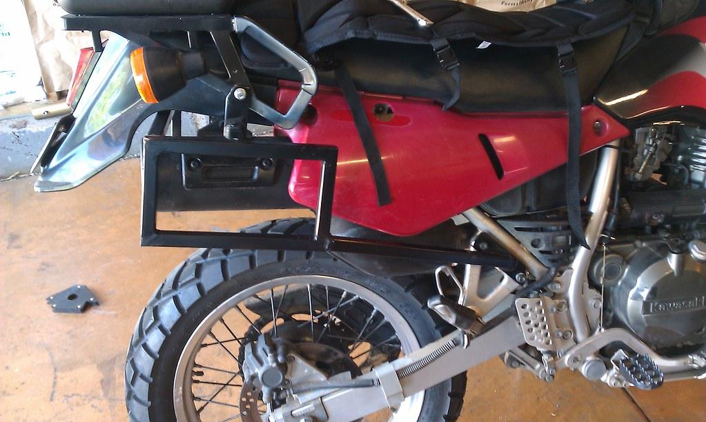 KLR 650 Pelican case rack project. | Adventure Rider