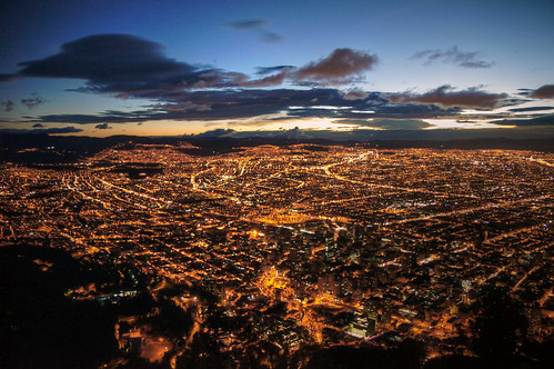 city sunset mountain night america lights colombia bogota view sony south capital wide alpha scape americas lattice monserrate 580 a580