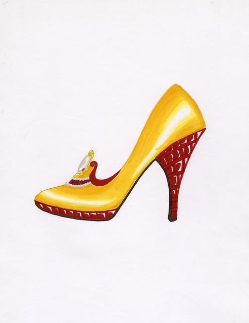 Metallic Leather Shoes