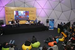 El sábado en el Planetario Galileo Galilei se desarrolló la charla Nuevas formas de gobierno  en la que expusieron César Calderón (Autoritas Consulting); Ernesto Skidelsky (Nuevos Medios); Lucas Lanza (ePoliTics) y Luis Babino (CIGOB). ( Foto: Estrella Herrera)