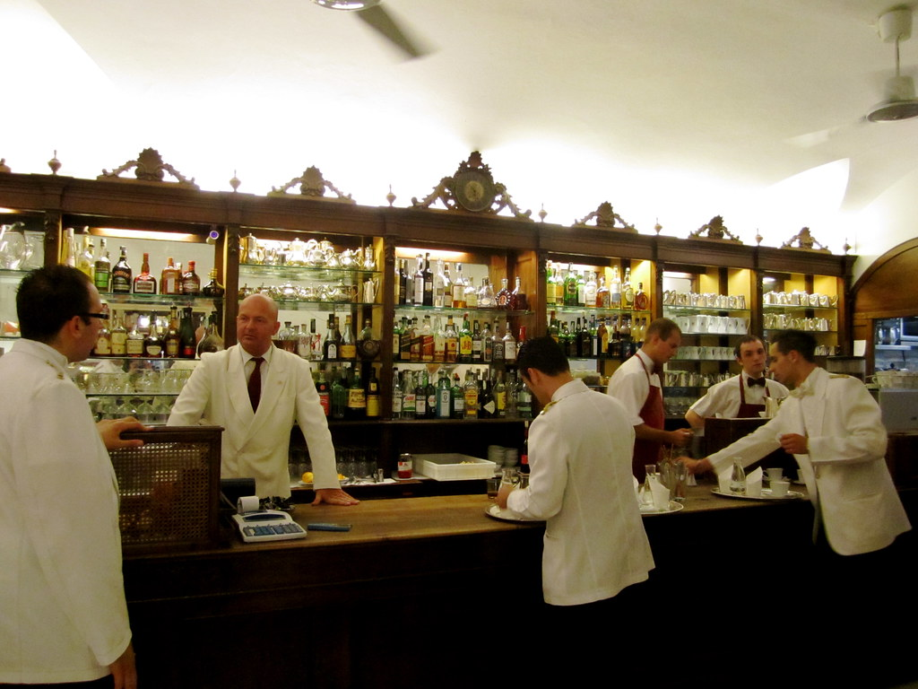 Waiters at Cafe Florian