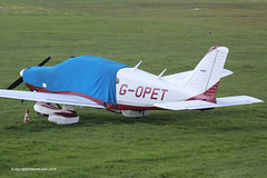 G-OPET - 1975 build Piper PA-28-181 Cherokee Archer, overnight parking at Barton