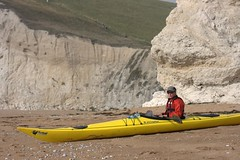 Helen on a quiet beach near Durdle Door Image