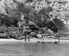 Dana Cove pier in disrepair, 1953
