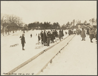 Franklin Park. Schoolmaster's hill, toboggan slide. Image courtesy the Boston Public Library's Flickr stream.