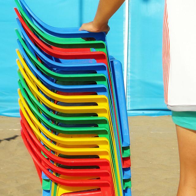 Arcoiris de sillas