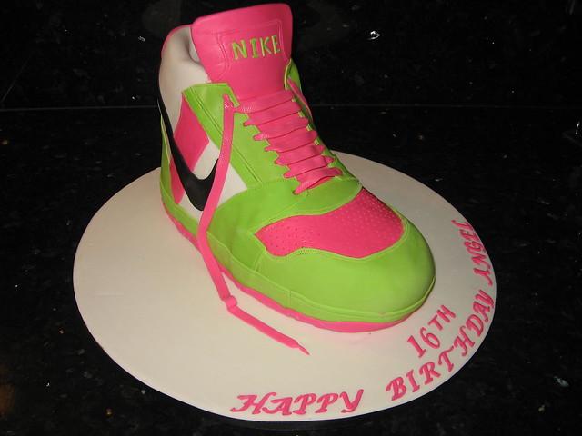 Nike Shoes Cake Design : NIKE SHOE CAKE Chocolate mud layed with chocolate ...