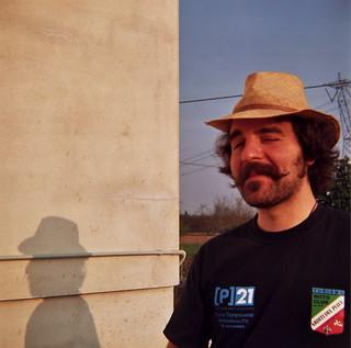 My vintage friend and his shadow (or Mr. David Crosby?)