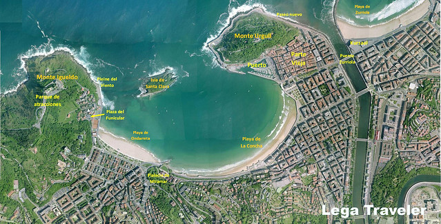 mapa san sebastian la conche