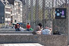 Un moment de repos au soleil (Place St-Lambert -Liège)