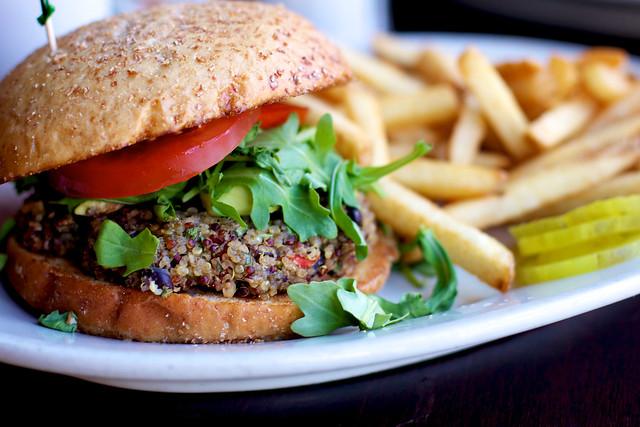 Veggie Burger at Julia's