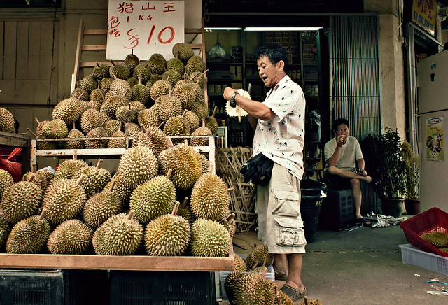 Durian stall, Geylang Road
