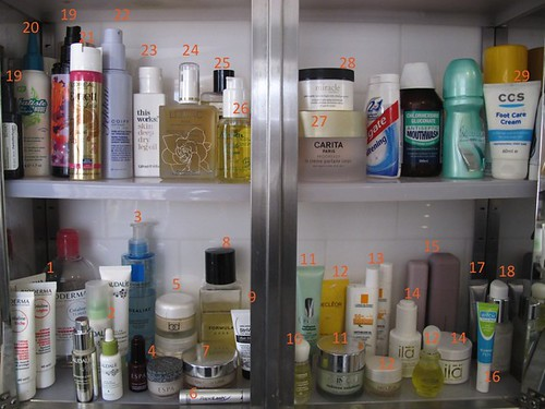 Llg beauty what 39 s inside my bathroom cabinet liberty for What s new in bathrooms