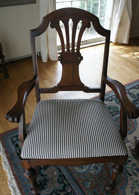 Striped Dining Room Chairs Chair Pads Amp Cushions