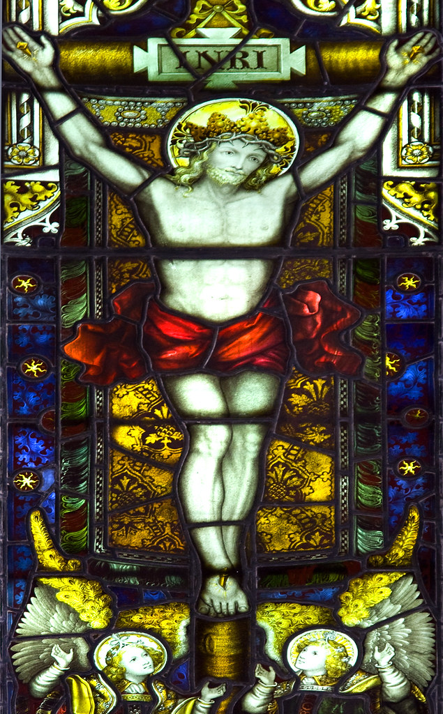 Crucifixion Stained Glass Window