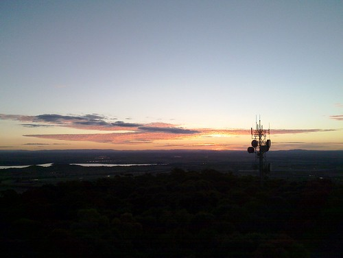 Sunset from the old Poppet Head on Mount Tarrengower at Maldon