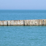 Remains Of  A Mulberry Harbour Component, Arromanches-les-Bains, Normandy - France.